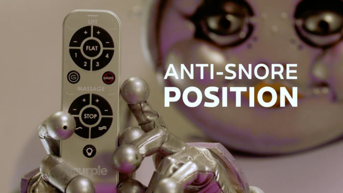 Purple Powerbase Anti-Snore Position